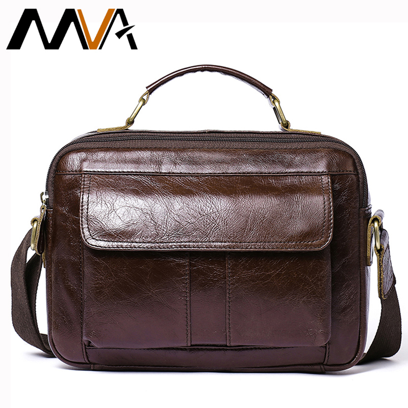 d287e83ac2 MVA Messenger Bag Men Genuine Leather Shoulder Crossbody Bags for Mens Bags  Male Fashion Leather Handbags Zipper ipad Totes 8320-in Crossbody Bags from  ...