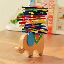 Elephant/Camel Balancing Blocks Cartoon Baby Educational Toys Wooden Camel Balance Beam Puzzle Toys Game Gift For Children(China)