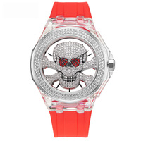 Новые роскошные вырезы часы Для женщин кварцевые часы пара моды часы лучший бренд Водонепроницаемый часы полный алмазов леди часы браслет