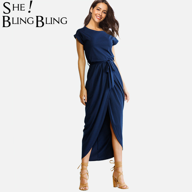 Sheblingbling Plus Size Women Casual Dress Spring Summer Fashion Cap