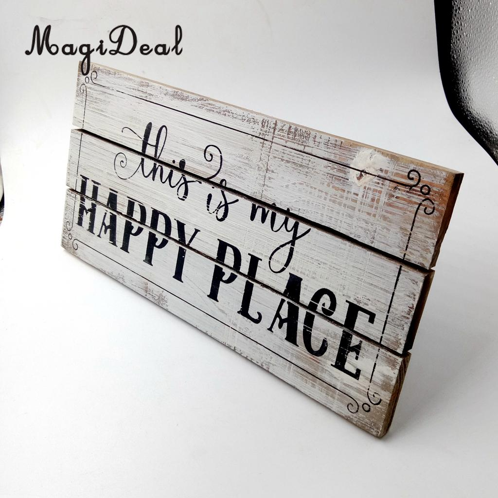 MagiDeal Vintage Wooden Plaque Shabby Chic Signs Home Decoration Gift Wall Door Hanging Decorative Board