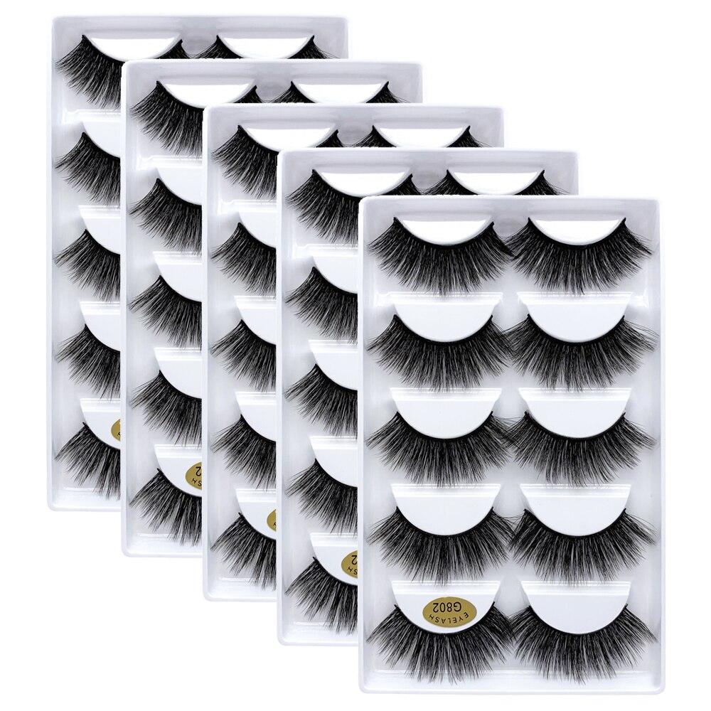 25 pairs 3D Mink lashes Wholesale Natural False Eyelashes 3D Mink Eyelashes Soft makeup Extension False Lashes cilios g806 g800
