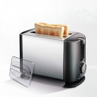 Household Baking breakfast maker electrical toaster Cooker bread Breakfast baking Machine 2 slices pieces Europen style US plug