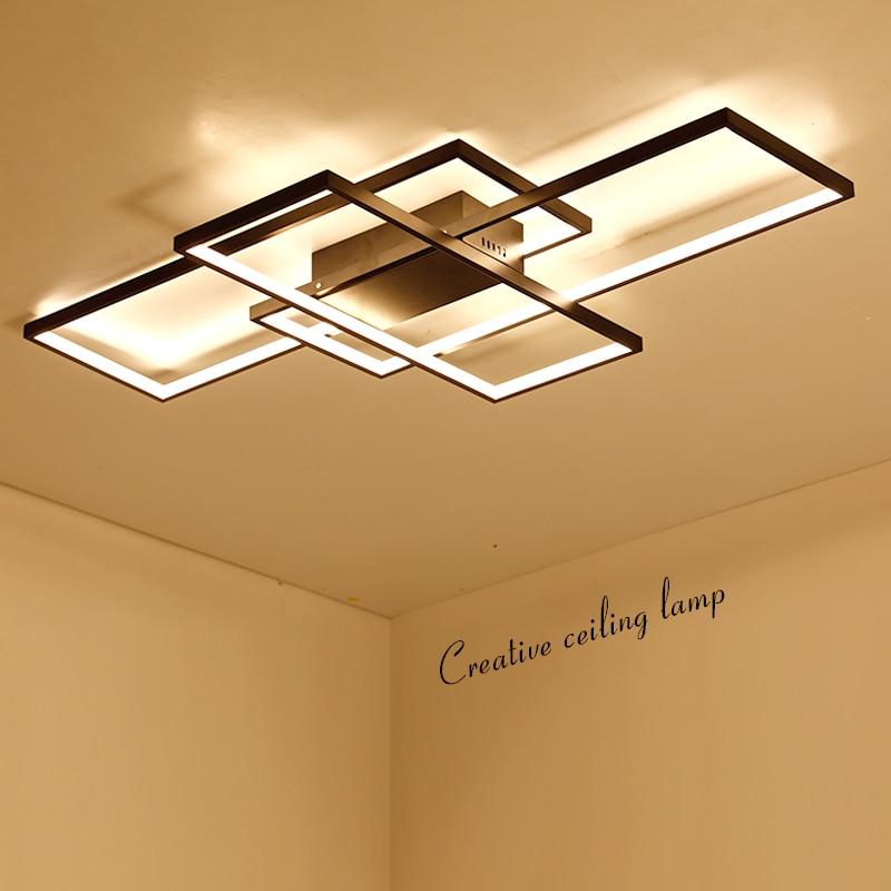 NEO Lueur Nouvelle Arrivée Noir/Blanc LED Plafond Lustre Pour Salon Salle D'étude Chambre En Aluminium Moderne Led Plafond Lustre