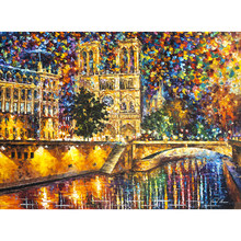 Painting By Numbers DIY Dropshipping 40x50 50x65cm The abstract Notre Dame Landscape Canvas Wedding Decoration Art picture Gift(China)