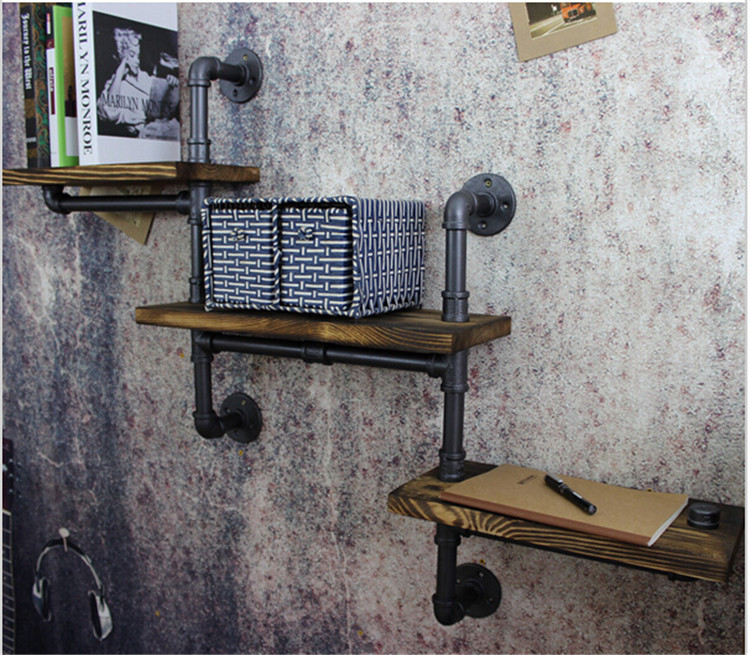 Američki cijevni regali, zidne cijevi od kovanog željeza retro - Namještaj - Foto 6