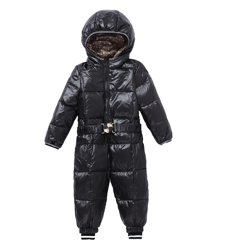 2016 Winter New Baby Conjoined Children's Wear, Fashion Candy, Hooded Long Sleeved Boys and Girls Down Jacket