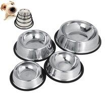 Oblíbená nerezová miska pro zvířata s protiskluzovým dnem –  4 velikosti