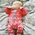 Invierno ropa de invierno para los recién nacidos de lana bodie sliders mono de carretero del bebé sweater pijama traje de los bebés varones Mameluco largo de la manga