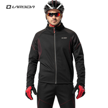 winter bicycle cycling jersey sets mens long sleeve clothing sets bike fleece wind coat outdoor sports