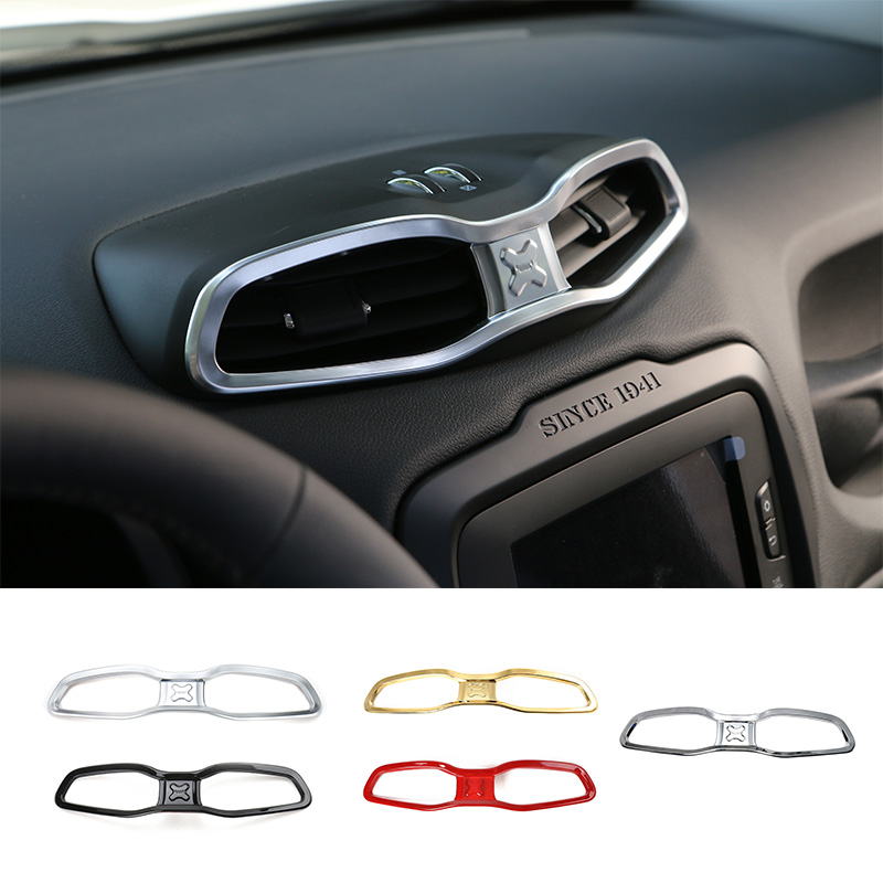 MOPAI ABS Car Interior Dashboard Air Condition Vent Outlet Decoration Cover Frame Stickers For Renegade 2015 Up Car Styling цена
