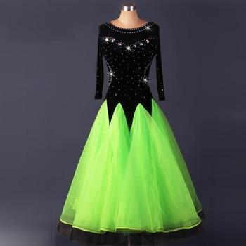 velvet standard ballroom dresses woman Ballroom dance dresses standard waltz dance dress modern dance dress Foxtrot
