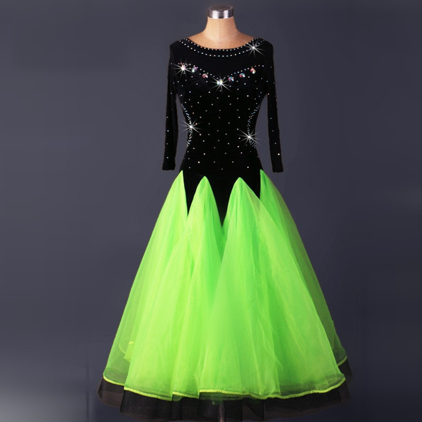 Show details for Velvet Standard Ballroom Dresses Woman Ballroom Dance Dresses Standard Waltz Dance Dress Modern Dance Dress Foxtrot