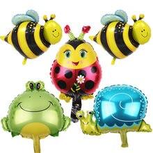 XXPWJ Novo 5 pçs/lote mini abelhas caracol sapo alumínio balões festa natalícia do layout das crianças brinquedos decorativos X-204