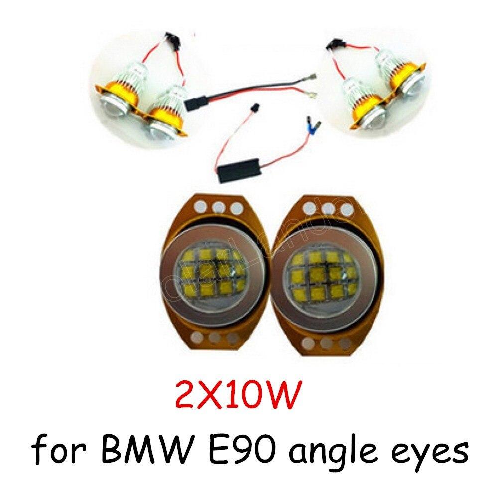 60WX2 LED ange yeux marqueur ampoule lampe 2 pièces/lot phare voiture style pour BMW E90 E91