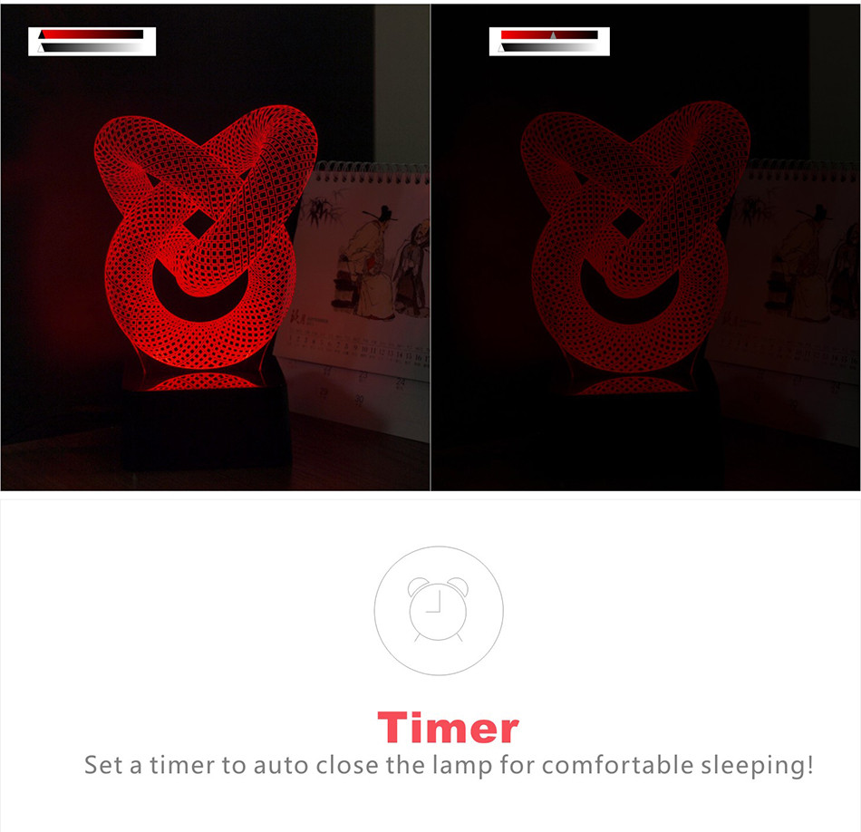 Novelty Christmas Light for Chiese Knot 3D Led Besides Lamp Music NightLights with Bluetooth Speaker (7)