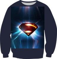 Nueva moda mujeres hombres 3D sudaderas con capucha de impresión Superman Van gogh Galaxy los alienígenas sudadera polar jerseys calientes más el tamaño XS-6XL