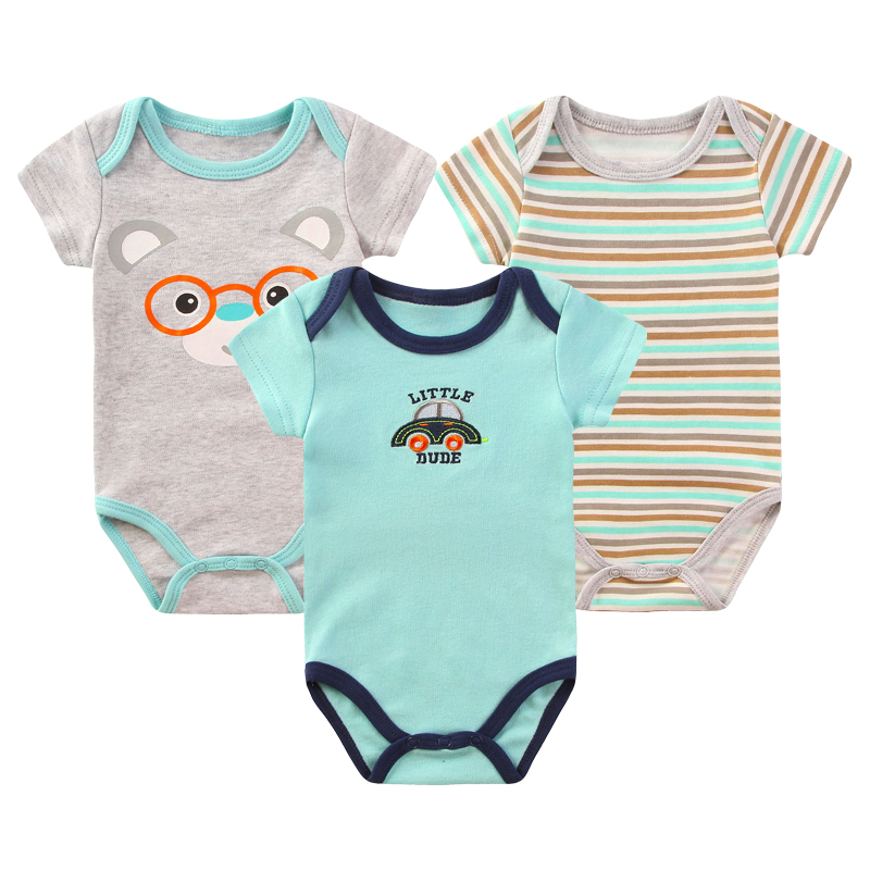 2017 Baby Rompers Newborn Baby Clothes Cotton Overalls Baby Girl Boy Clothing Cute Car Rompers Jumpsuit Baby Body Bebes Costume