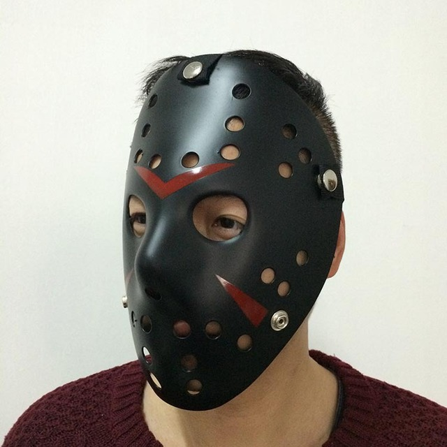 black color jason voorhees friday the 13th horror movie hockey mask halloween mask friday the 13th