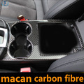 For The new Porsche Macan modified carbon fiber glass in the console Macan 3D patch in car interior decoration