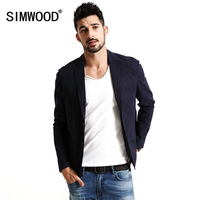 SIMWOOD 2017 New Spring Casual Blazers Coats Men Cotton And Linen Fabric Pure And Nature Fashion