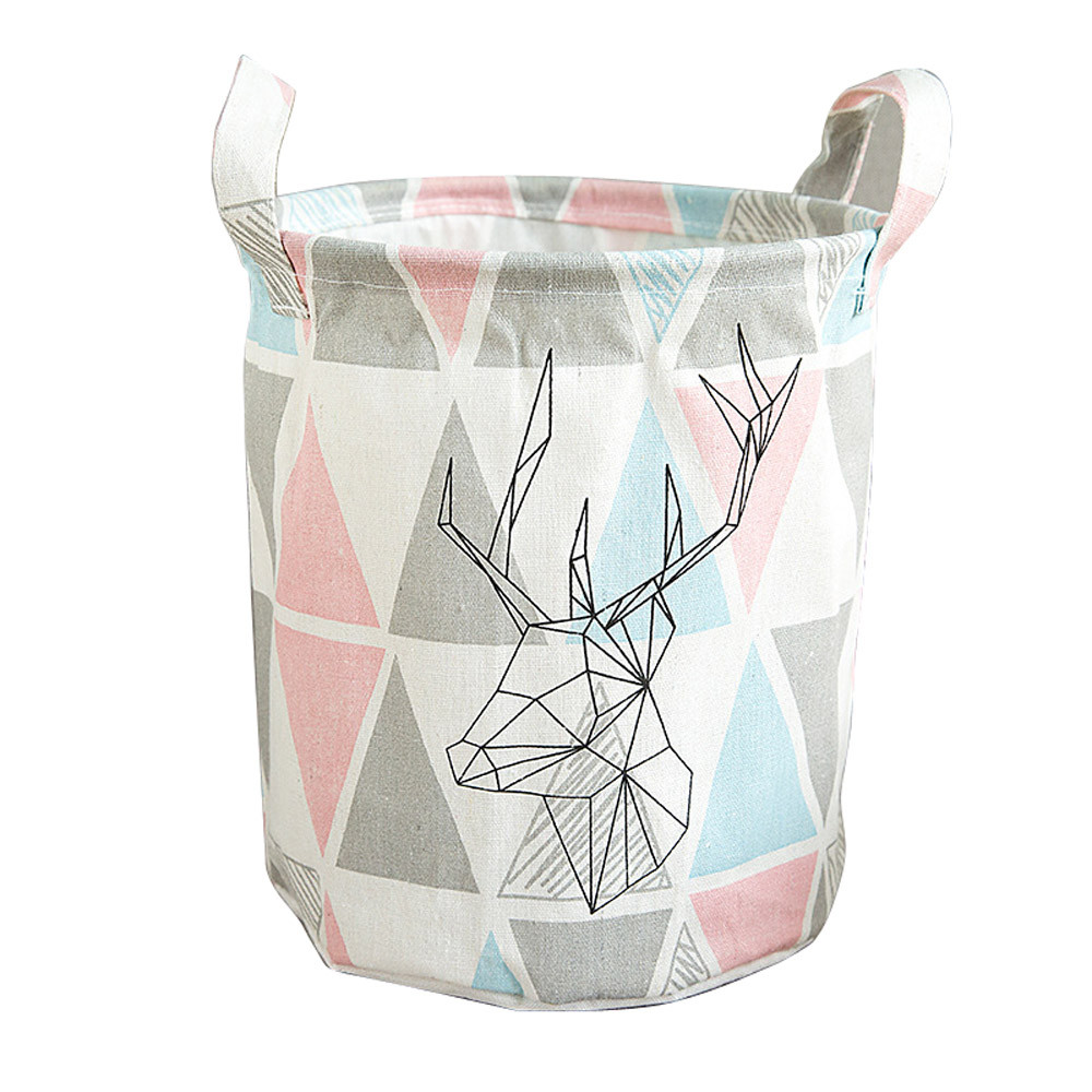 2018 New Fashion Foldable MutiColors Storage Bin Closet Toy Box Container Organizer Fabric Basket With High Quality Hot Sale#35