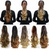 "20"" Pony Tail Ponytail Clip On Hair Extensions Ombre Hair Tail Wavy Curly Style Synthetic Hairpieces queue de cheval B40"