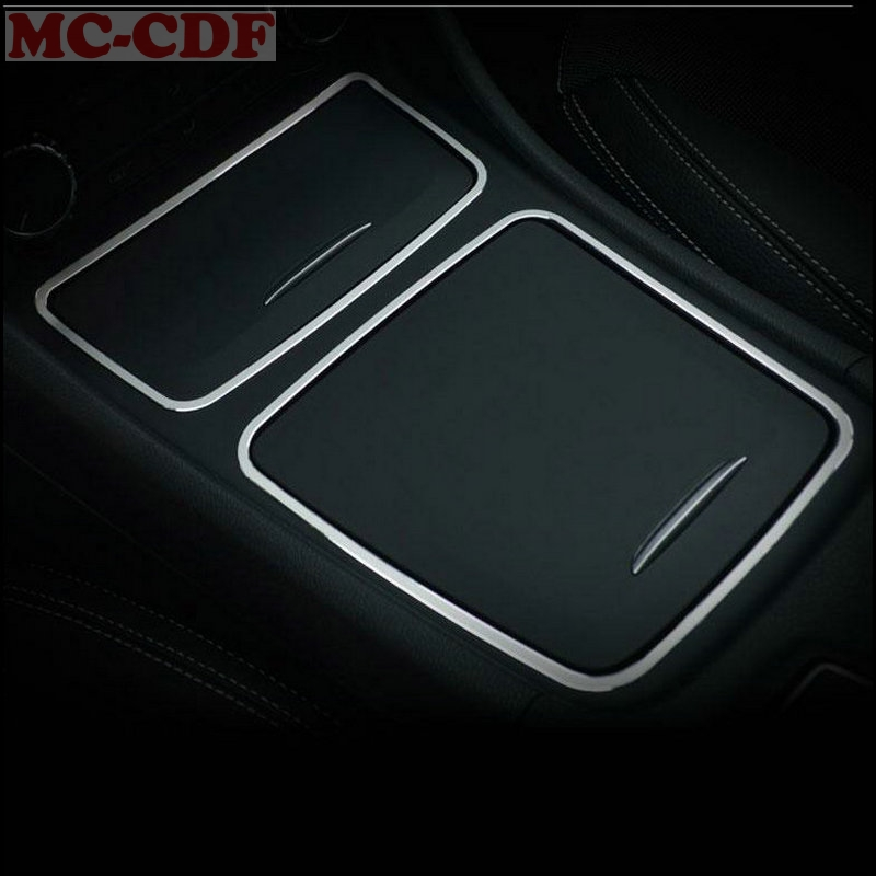 2pcs/lot For Mercedes Benz A CLA GLA Class W176 C117 W117 X156 Center Console Storage Box Ashtray Holder Cover Trim Frame