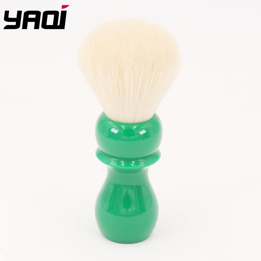 24mm Yaqi Dandelion Green Resin Handle Wet Cashmere Knot Shaving Brush