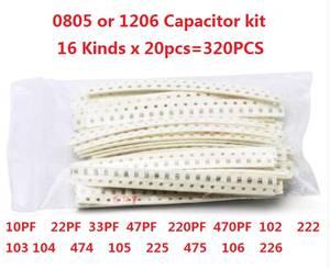 Ceramic-Capacitor-Kit 103 22UF 1206 104 0805 10PF 220/470PF 320pcs 102 105 SMD 225 222