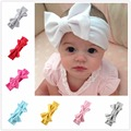 1 PC  Baby Solid  Hair CottonBow Headband Toddler Handmade Stretch Headwraps With Bow Boutique Cute Hair Accessories