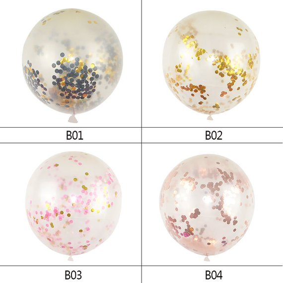 36inch Large Confetti Balloons Bride To Be Balloon Rose Gold Party Decoration White Wedding Helium Balloon Bachelorette Supplies in Ballons Accessories from Home Garden