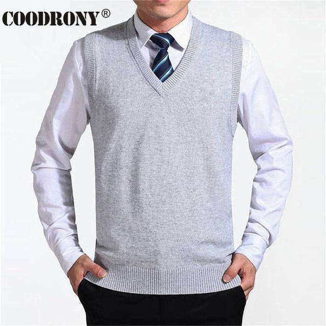 Мужской кашемировый пуловер безрукавка деловой стиль 4