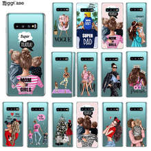 Fashion Zwart Bruin Haar Baby Mom Meisje Koningin 01 Case voor Samsung Galaxy M10 M20 S10 5g S6 S7 rand S8 S9 S10 Plus S10e Cover Case(China)