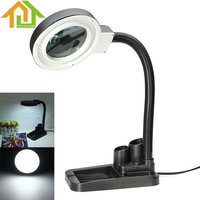Magnifying Crafts Glass Desk Lamp With 5X 10X Magnifier With 40 LED Lighting