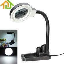 Lámpara De Escritorio Lupa lupa Oficios Con 5X 10X Lupa Con 40 LED de Iluminación
