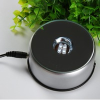 Rotating 4 Multicolor Lights Round LED Plastic Base Stand For 3d Laser Crystal