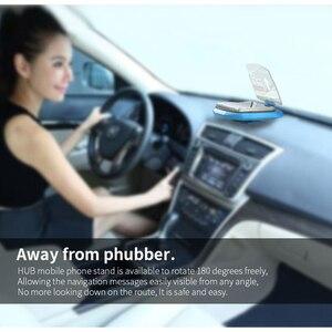 Image 3 - Universal Telefon Auto Spiegel Halter Windschutz Projektor HUD Head Up Display GPS Navigation HUD Folding Halterung Für iPhone Samsung