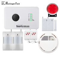 433 백만헤르쯔 무선 SIM GSM 홈 RFID 도난 보안 홈 Alarm System GSM Alarm System Sensor kit 와 무선 smoke detector