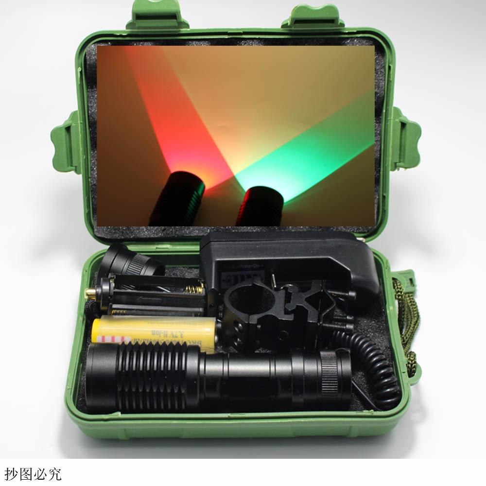 Zoom Green Red LED Flashlight  Hunting Light XM-L Q5 1000 Lumens ON/OFF Mode With Gun Clip Remote Pressure Switch 18650 прибор от комаров off clip on с фен системой сменный картридж н новгород