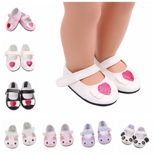 цены New Fashion Doll Shoes For 18 Inch Generation American Doll Diy Doll Shoes 43cm Baby New  Born Doll Accessories Free Shipping
