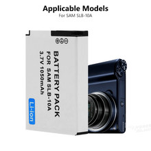 1Pc 3,7 V SLB-10A SLB10A SLB 10A de batería de la cámara para Samsung PL50 PL60 PL65 P800 SL820 WB150F WB250F WB350F WB750 WB800F WB500