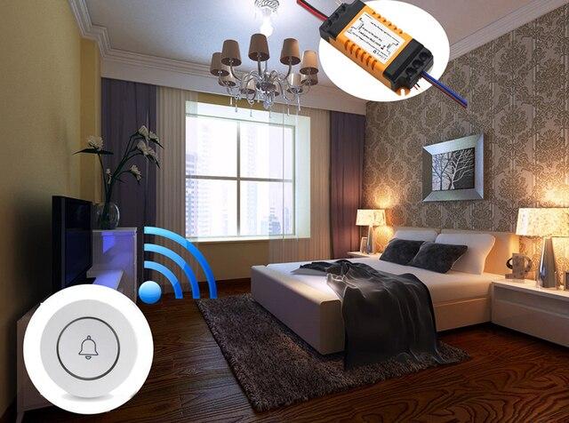 Wofea yatak odası lamba LED ampul AC 110V- 220V duvar verici kablosuz ışık anahtarı uzaktan kumanda anahtarı