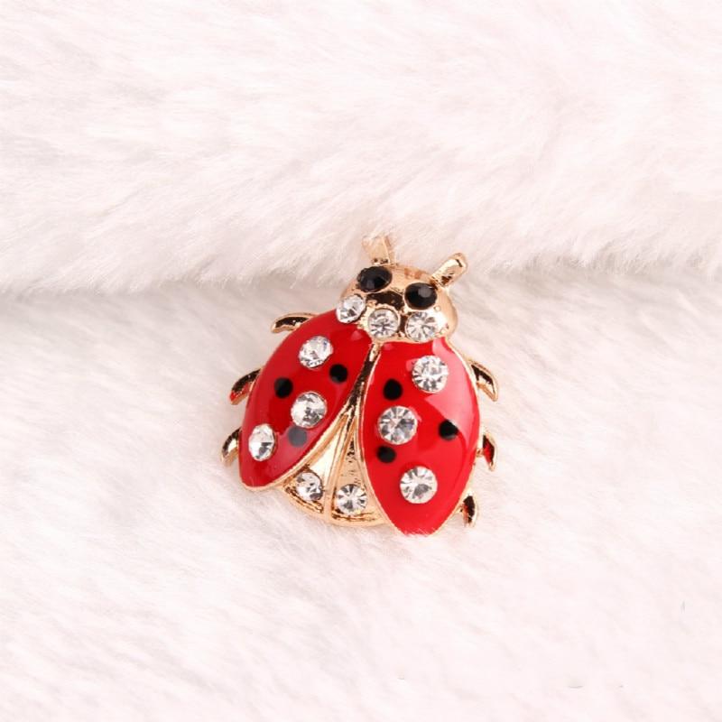 Fashion Qixing ladybug brooch children's clothing Xiongdian pin