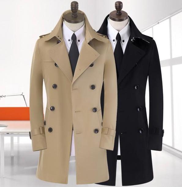 Spike! 9XL 8XL große Größe Frühling lange schwarze Trenchcoat - Herrenbekleidung - Foto 5