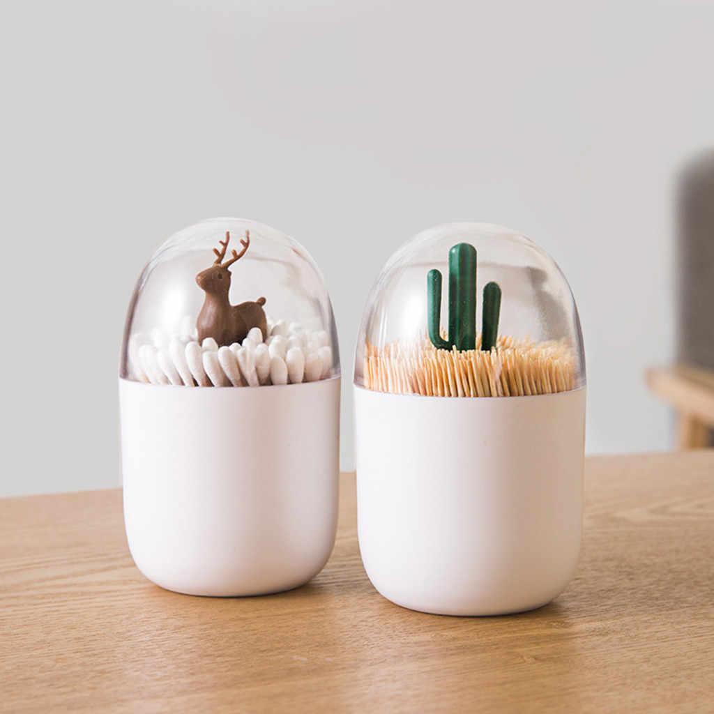 Criativo dustproof cotonete bud titular dispensador organizador caixa de armazenamento exótico