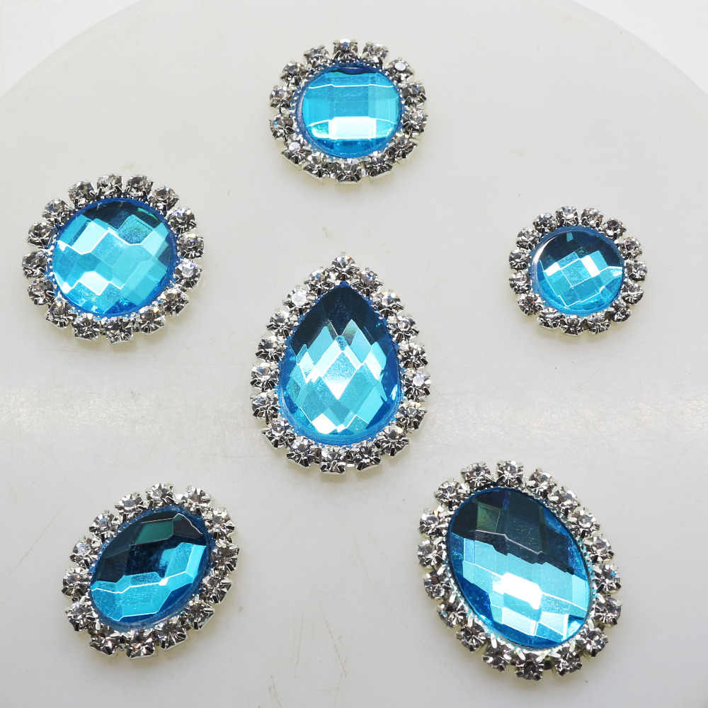 New 10pcs lot 6 Styles Glass Rhinestone Buttons Metal Artificial Crystal  Button for Wedding Bouquet 08ee8f4beaef