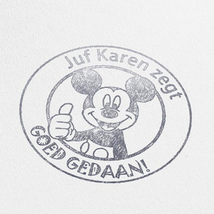 Image 2 - Dutch The Mouse goed gedaan Teacher Gift Stamp personalized custom name stamp self inking  for gift school with Micke Great job