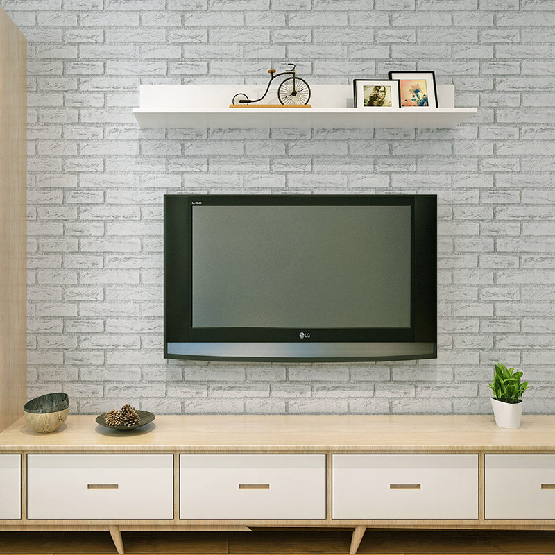 modern brick wallpaper roll peel and stick wall papers home decor. Black Bedroom Furniture Sets. Home Design Ideas