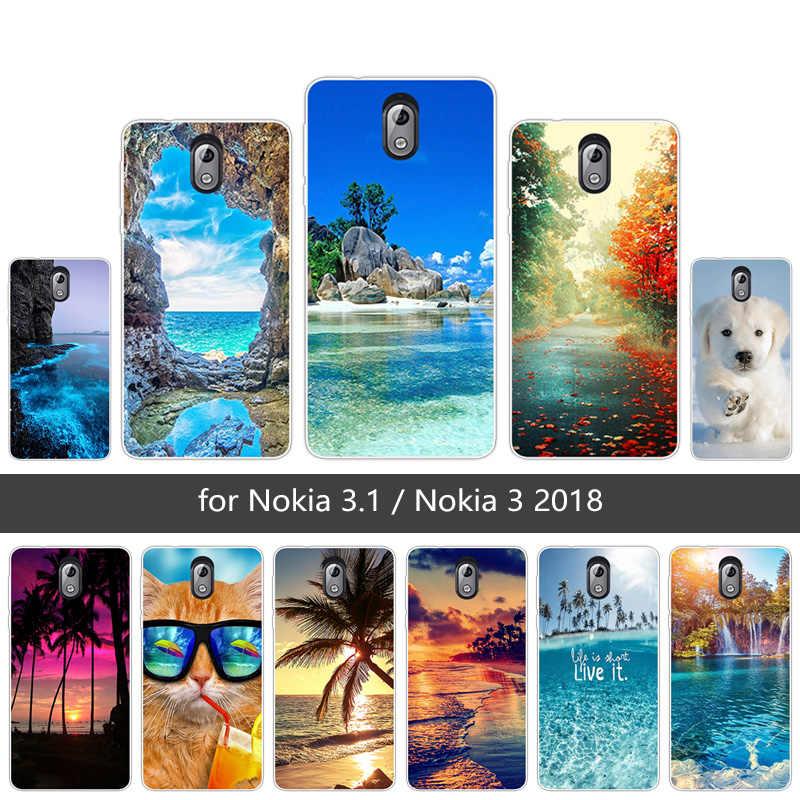 Для Nokia 3,1 чехол силиконовый мягкий TPU задняя крышка для Funda Nokia TA-1063 TA-1057 Scen телефон чехлы для телефонов для Nokia 3 2018